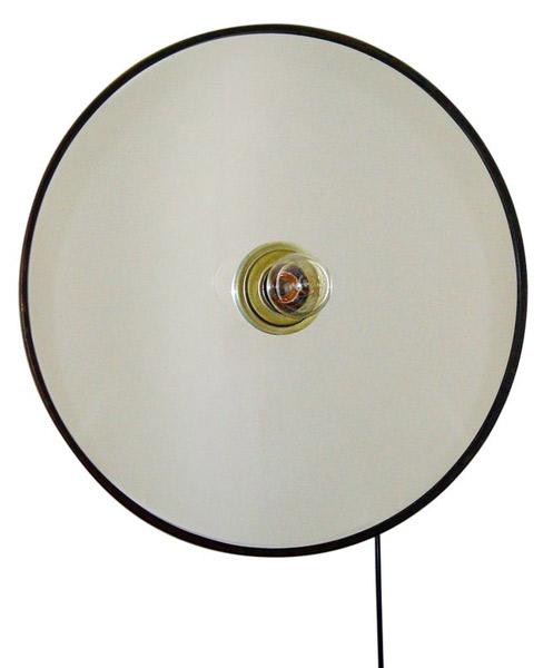 Circular mirror wall lamp