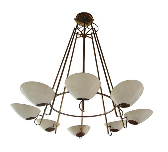 Gino Sarfatti ceiling lamp for Arteluce