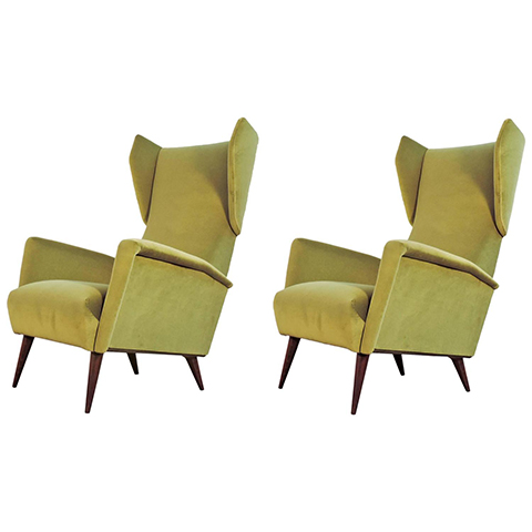 Gio Ponti armchairs for Dassi