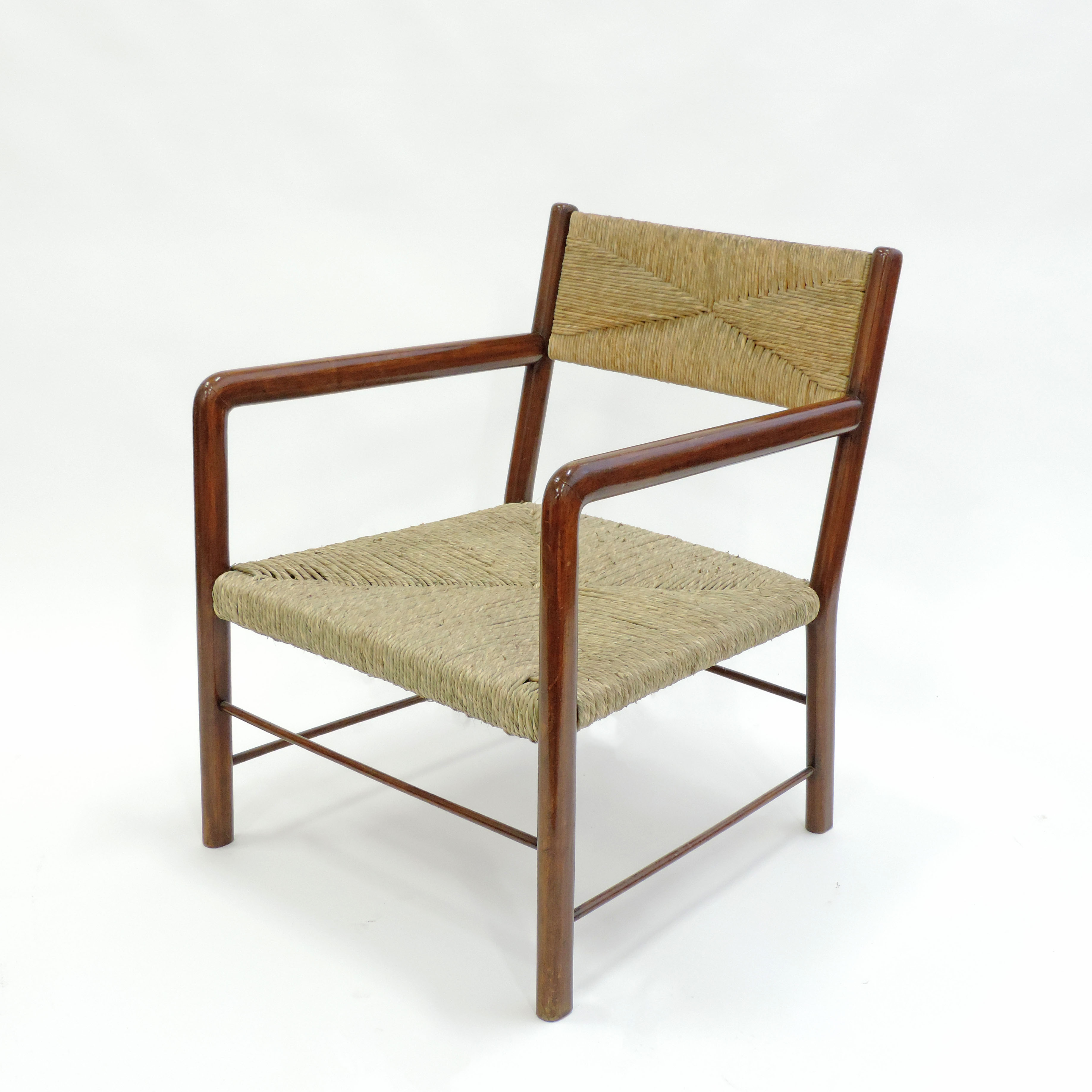 Pair of Emanuele Rambaldi Modernist Armchairs