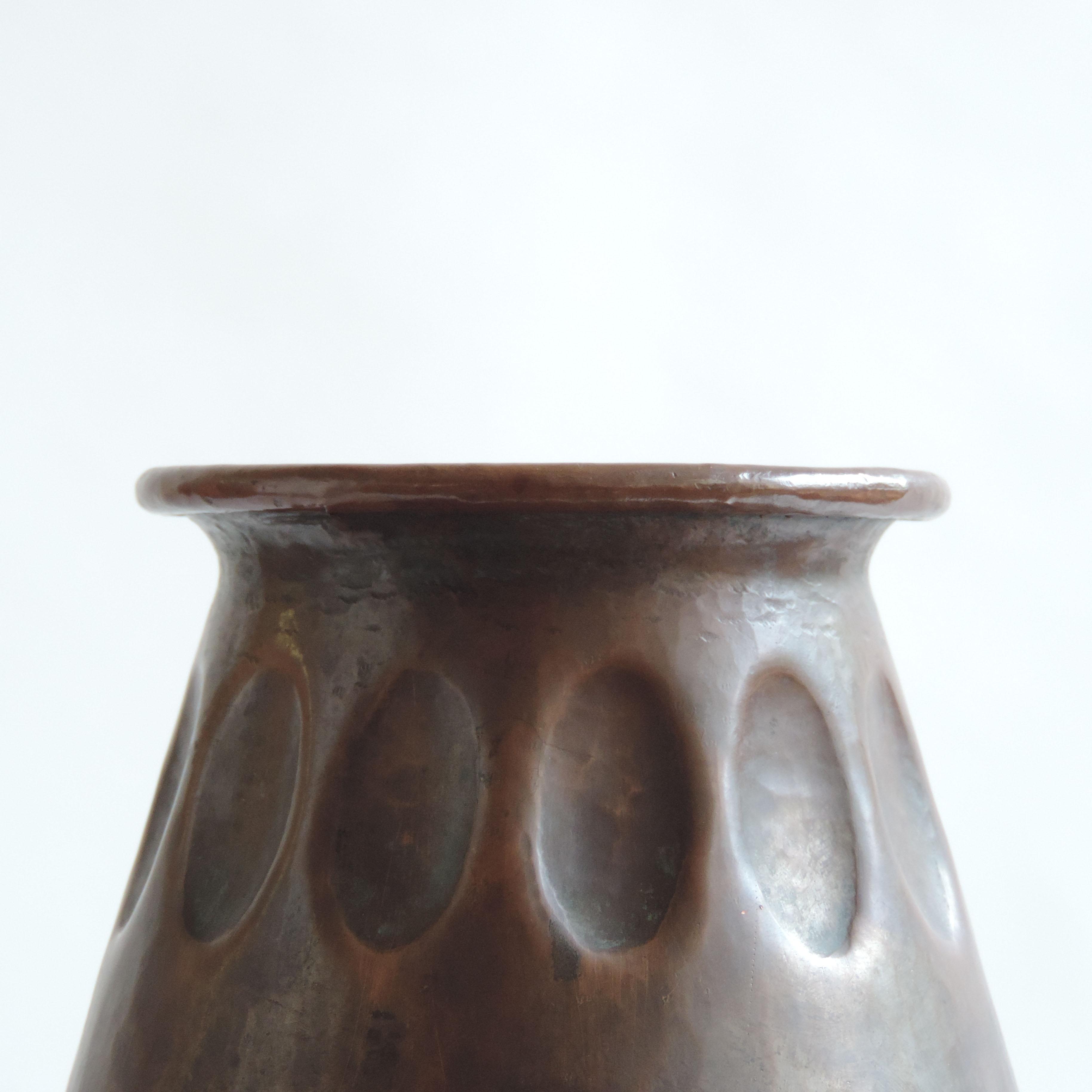 Vittorio Zecchin Hammered Copper Vase ENAPI