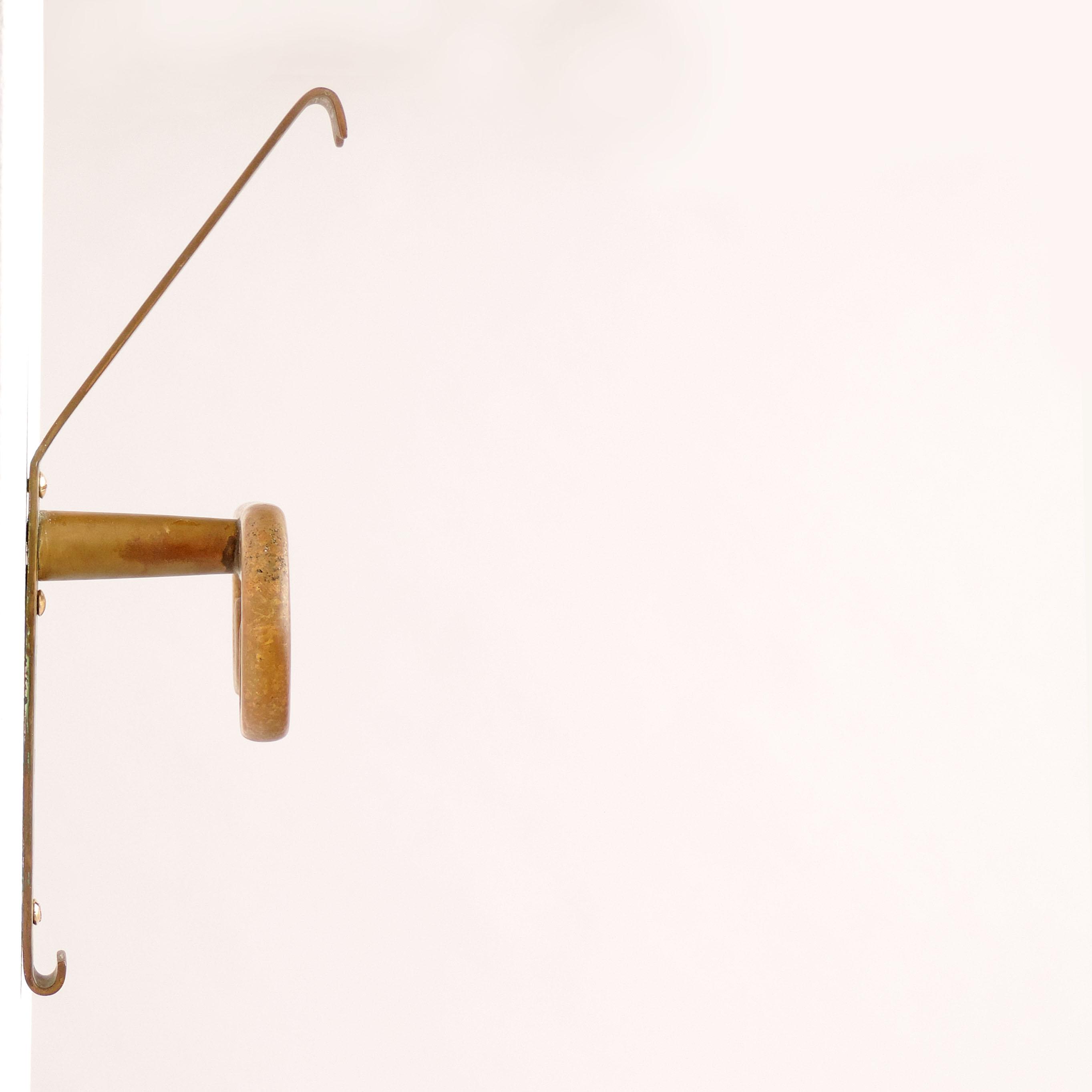 Splendid Sculptural Italian Brass Coat Hangers