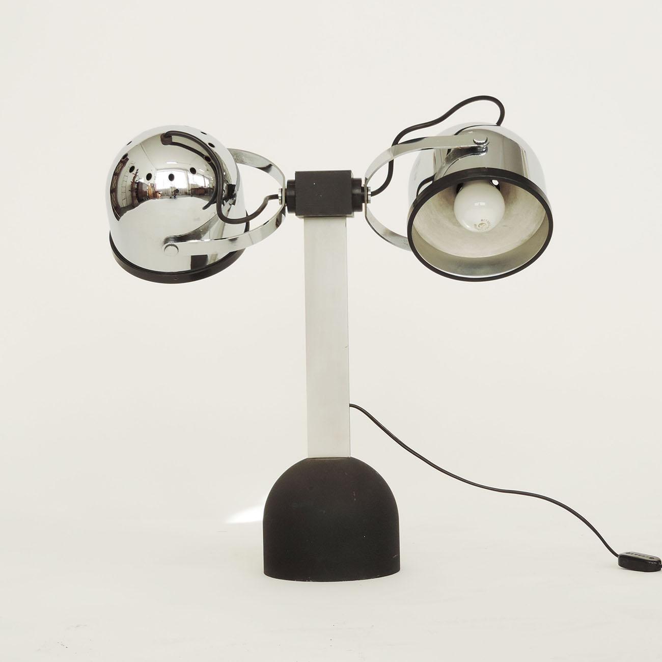 Pair of Gae Aulenti & Livio Castiglioni Trepiù Table Lamps for Stilnovo, 1972